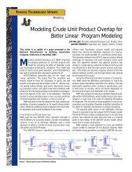 Modeling Crude Unit Product Overlap for Better Linear Program M ...