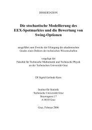 Die stochastische Modellierung des EEX-Spotmarktes und die ...