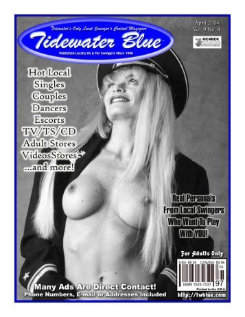 "Page 1 """"*~""--4» April 2004 Published Locally Bv Si For Swingers ..."