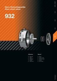 Disco-Rückschlagventile Disco check valves 932 - AWS Apparatebau