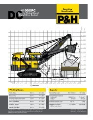 P&H 4100XPC DC Operating Specification - P&H MinePro Services