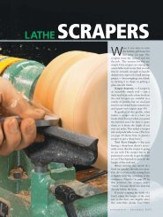 Lathe Scrapers - Woodsmith Woodworking Seminars