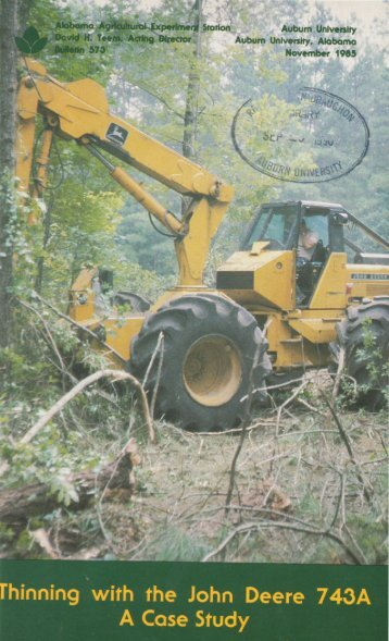 Thinning with the John Deere 743A - Auburn University Repository