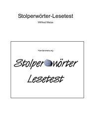 Stolperwörter-Lesetest