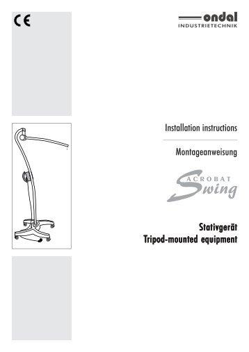 Installation instructions Montageanweisung Stativgerät ... - Welch Allyn