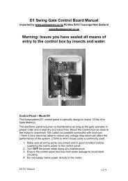M-8 Swing Gate Control Board Manual - EasyGate - Automatic Gate ...
