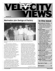 In this issue - Velocity Aircraft