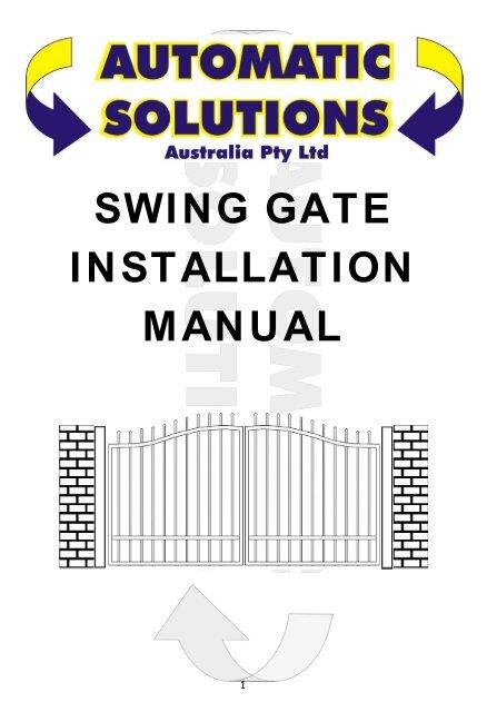 Swing Gate Installation Manual Automatic Gates Australia