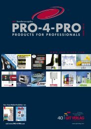 proDUcTS For proFESSIoNALS - GIT Verlag