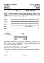 S B F   SEE - Anmeldung - auf der Homepage der SKG-Frankfurt.