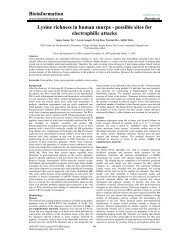 Bioinformation Lysine richness in human snurps - possible sites for ...