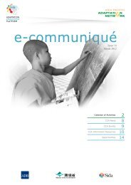 Adaptation Knowledge Platform E-Communique, Issue 16