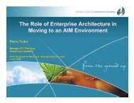 The Role of Enterprise Architecture in Moving to an AIM ... - ICAO