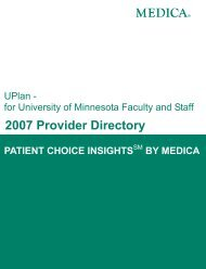 network providers - Medica