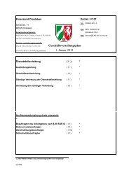 Geschäftsverteilungsplan 1. Januar 2013 - Finanzamt Dinslaken