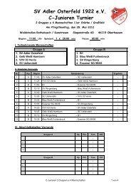 SV Adler Osterfeld 1922 e.V. C-Junioren Turnier