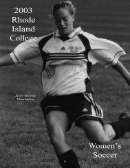 2003 Rhode Island College Women's Soccer