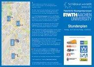 Wochenplan im Flyer-Format als PDF-Dokument