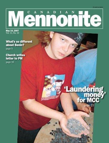 'Laundering - Current Issue - Canadian Mennonite
