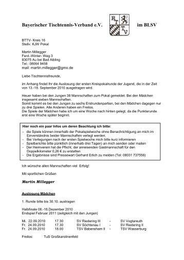 Bayerischer Tischtennis-Verband eV im BLSV - BTTV - Kreis ...