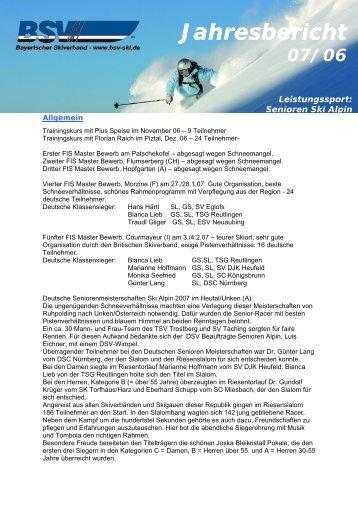 Jahresbericht - Bayerischer Skiverband