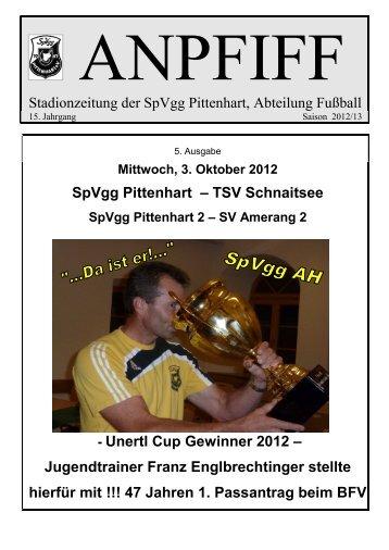Stadionzeitung der SpVgg Pittenhart, Abteilung Fußball SpVgg ...