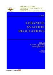 LARs LEBANESE AVIATION REGULATIONS Part VI General