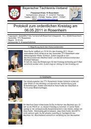 Protokoll zur Kreisvorstandssitzung am 26 - BTTV - Kreis Rosenheim