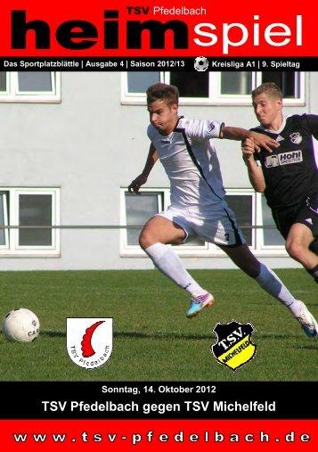 4. Heft gegen TSV Michelfeld 14.10.2012 - TSV Pfedelbach