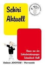 Ausgabe Vorrunde - Schiedsrichtergruppe Schwäbisch Hall