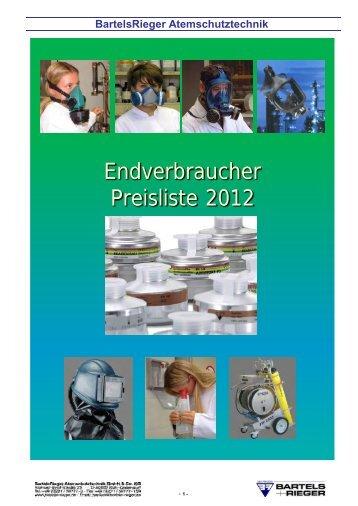 Endverbraucher Preisliste 2012 - Bartels & Rieger GmbH & Co