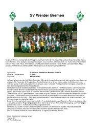 SV Werder Bremen - Delbrücker SC