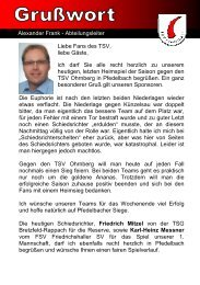 Gasthaus ,,Zum Lamm - TSV Pfedelbach