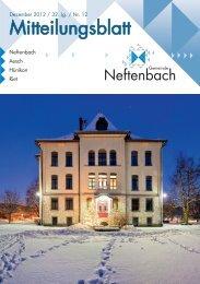 Mitteilungsblatt - Gemeinde Neftenbach