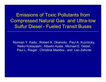 Emissions of Toxic Pollutants from Compressed Natural Gas and ...