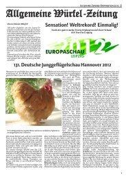 Allgemeine Würfel-Zeitung - SV Zwerg-Orpington