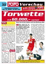 Torwette - win2day
