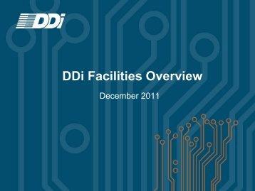 DDi Facilities Overview
