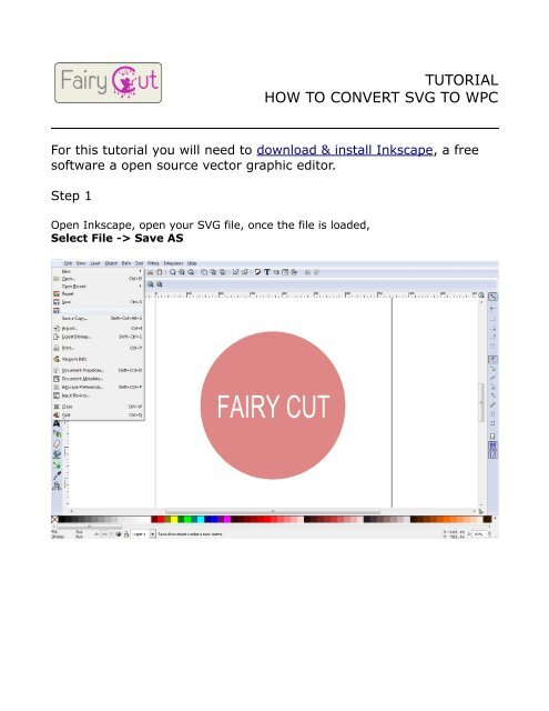 TUTORIAL HOW TO CONVERT SVG TO WPC - Fairy Cut