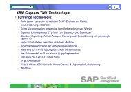 Cognos TM1 Funktionen