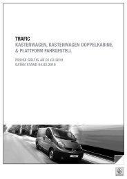 TRAFIC KASTENWAGEN, KASTENWAGEN ... - Renault
