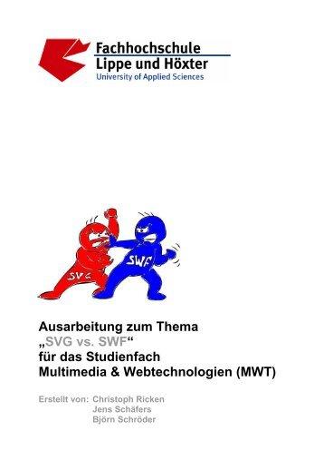 """Ausarbeitung zum Thema """"SVG vs. SWF"""" für das Studienfach ..."""