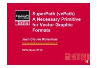 SuperPath (vePath) A Necessary Primitive for Vector Graphic Formats