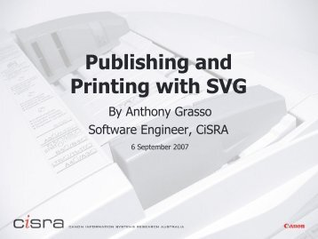 Publishing and Printing with SVG - SVG Open