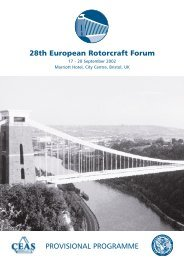 PROVISIONAL PROGRAMME 28th European Rotorcraft Forum - Ceas