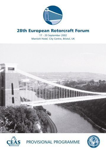 PROVISIONAL PROGRAMME 28th European Rotorcraft Forum - Ceas