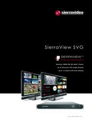 SierraView SVG - Sierra Video