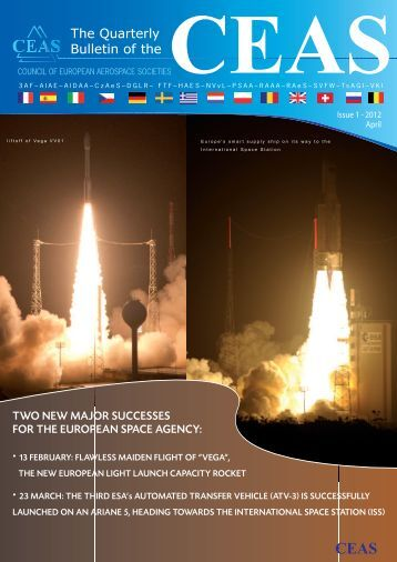 Issue 1 April 2012 - CEAS. Council of European Aerospace Societies