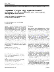 Association of a functional variant of neuronal nitric oxide synthase ...