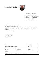 2012.08.28 19. Sitzung Haupt- und ... - Gemeinde Lindlar